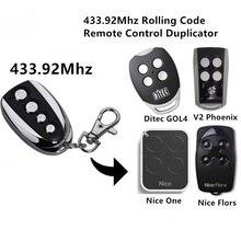 Remote control rolling code for  flor-s,  one, v2 remote 433.92mhz remote control remote nice flor flor s flo2r s flor s flo2r s 433 92mhz