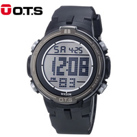 OTS Brand 2017 New Arrived Mens Sports Large Dial Digital LED Military Watch Male S Shock