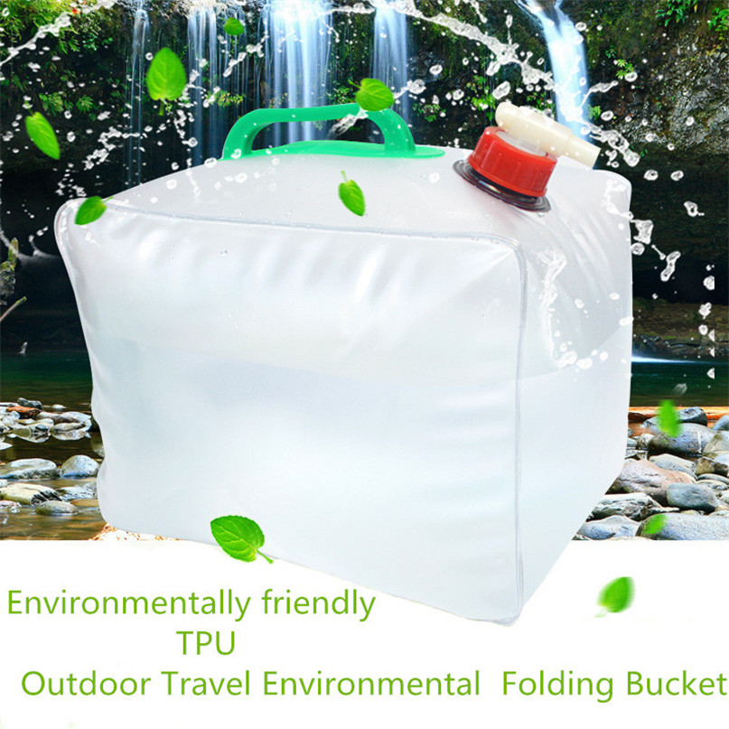 Portable water storage container Collapsible Water Carrier Bag Emergency Water Bag for Camping survival #2y15 (7)