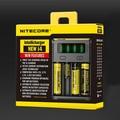 Оригинальное многофункциональное зарядное устройство Nitecore I2 I4 для Li-ion аккумуляторов 18650 18350 18490 14500 26650 с микропроцессорным управлением.