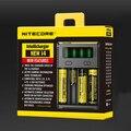 2016 nova versão Original Nitecore I2/I4 Carregador Universal para 18650 18350 Bateria 26650Li-ion Multi Função com Código de Segurança
