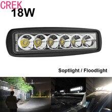 CREK 1550LM Mini LED Luz Del Coche de 6 Pulgadas 18 W LED Light Bar como luz de Trabajo/Reflector/Centro de Atención para la Navegación/Caza/pesca