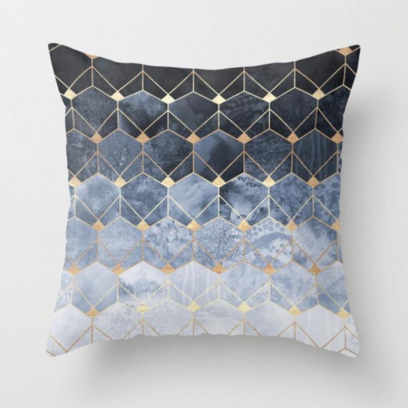 Contemporary Sofa Geometric Pillows: Modern Simple Colorful Diamond Pattern Throw Pillows