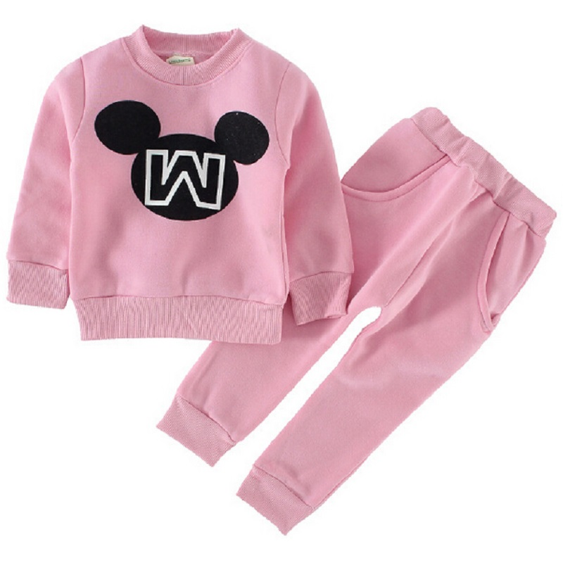 2019 Kids's Sports activities Fits Mickey Cartoon Boys Ladies Spherical Neck Lengthy-Sleeved Set Kids's Clothes Child Woman Garments clothes kids, swimsuit skirt, clothes reveals,Low cost clothes kids,Excessive High quality...