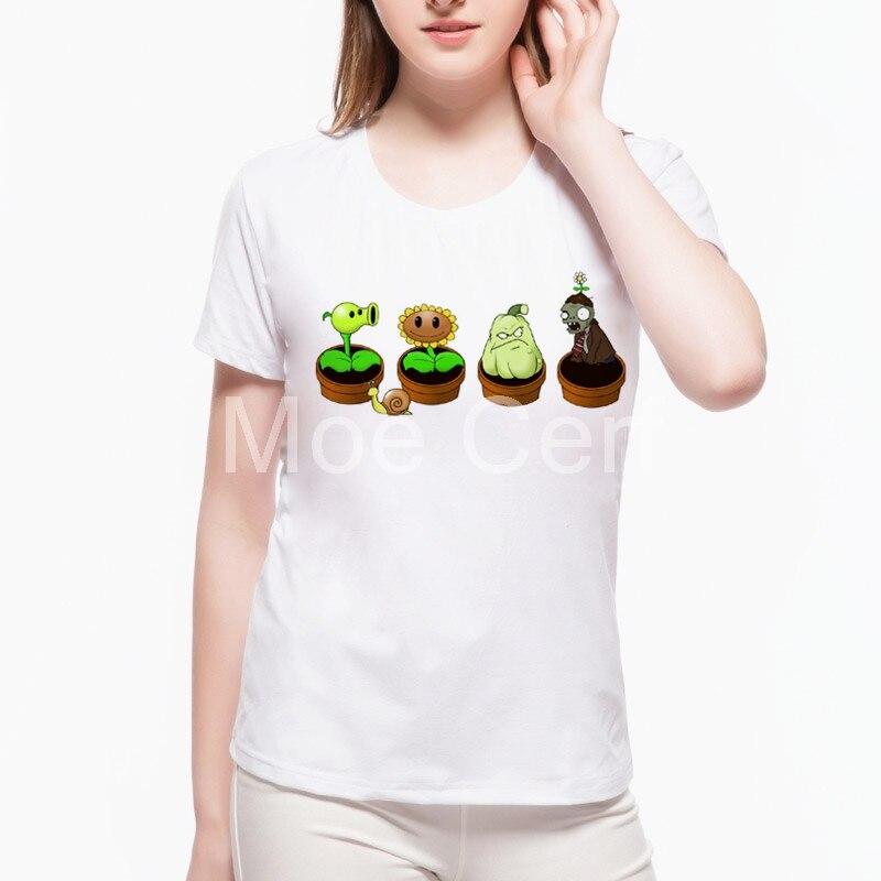 Zen Garden T-Shirt plants vs Zombies Cool Funny T-Shirt Summer Short Sleeves shirts women 2018 gothic tops tee L21-6