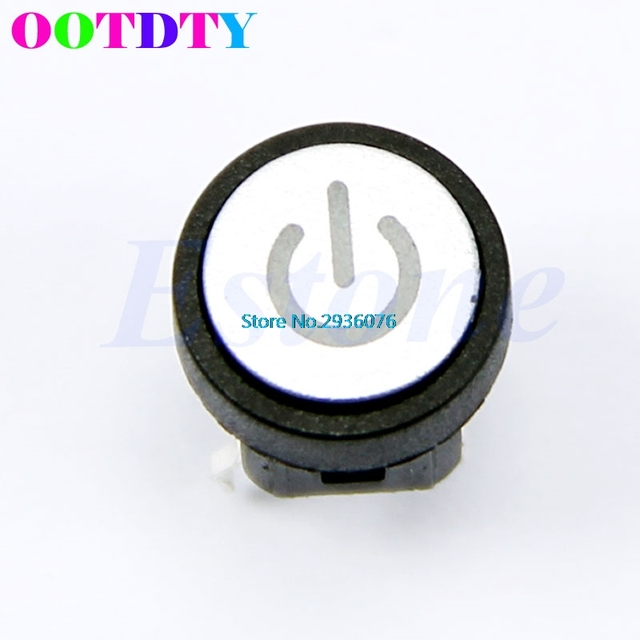 Green Led Light Power Switch Symbol Push Button Momentary Latching