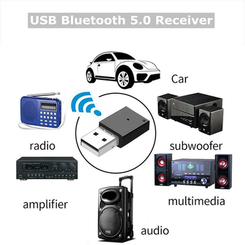 Bluetooth USB Adapter 5.0 High Speed Stabilizer Car Radio Subwoofer Amplifier Multimedia Audio Adapter Keyboard Mouse image