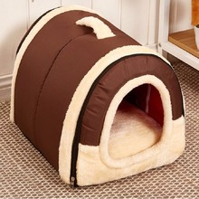 High Quality Dog House Bed With Mat Hot Sale Foldable Pet Dog Bed Cat Bed House For Small Medium-Size Dogs Traveling Pet Bed Bag