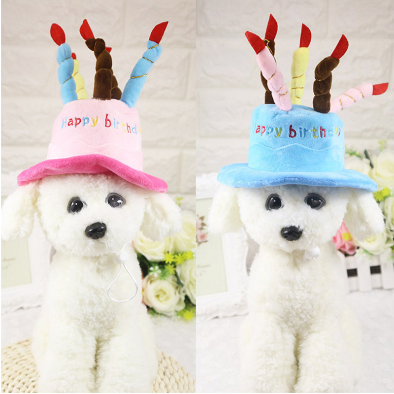 Cute Pet Turning Hats Dog Puppies Birthday Cake Caps Wear Pets Chihuahuas Teddy Clothing Accessories In From Home Garden On