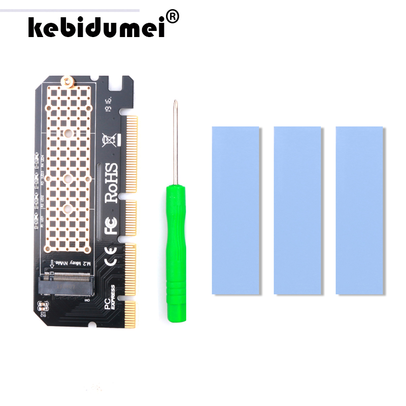 kebidumei M.2 NVME PCIE to M2 Adapter LED NVME SSD M2 PCIE x16 Expansion Card Computer Adapter Interface M.2 NVMe SSD To PCIE(China)