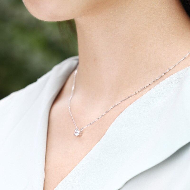 ZTUNG lvbl8 Классический Цветочный цепи ожерелья Кулон Циркон твердых 925 пробы Серебряные ожерелья Для женщин Мужские ювелирные украшения