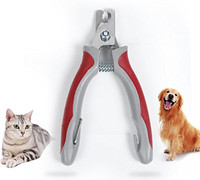 Dog Nail Clippers Trimmer With Free Nail File Razor Sharp Blades Sturdy Non Slip Handles For
