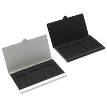 Чехол из алюминиевого сплава для карт памяти держатели для 3 SD-карт