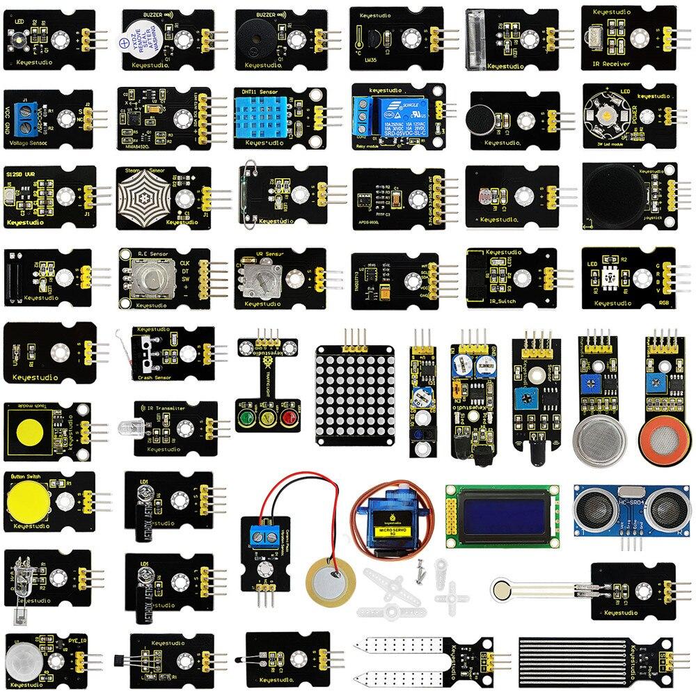 Новинка! keyestudio 48 В 1 Сенсор Starter Kit с подарочной коробке для Arduino DIY проектов (48 шт. Сенсор s)