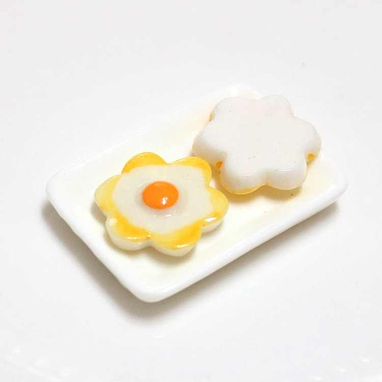 New 10pcs Mini Poached Egg Addition Slime Supplies Accessories DIY Decoration for Slime Filler Slime Kids Toys Decoration Gift E