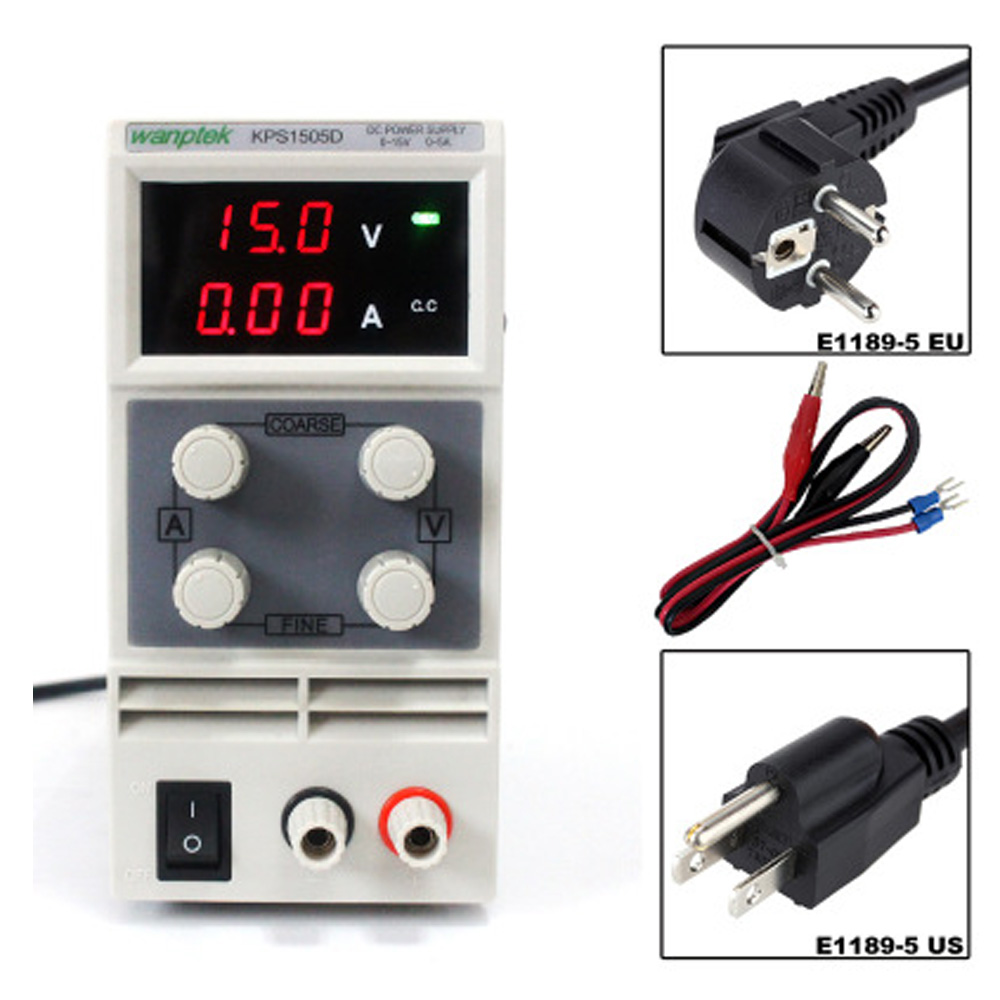 15V 5A DC Regulated Power High Precision Adjustable Supply Switch Power Supply Maintenance Protection Function KPS1505D 30v 3a dc regulated power high precision adjustable supply switch power supply maintenance protection function kps303df