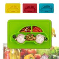 안전 실리콘 아기 요리 먹이 식품 플레이트 트레이 유아 식품