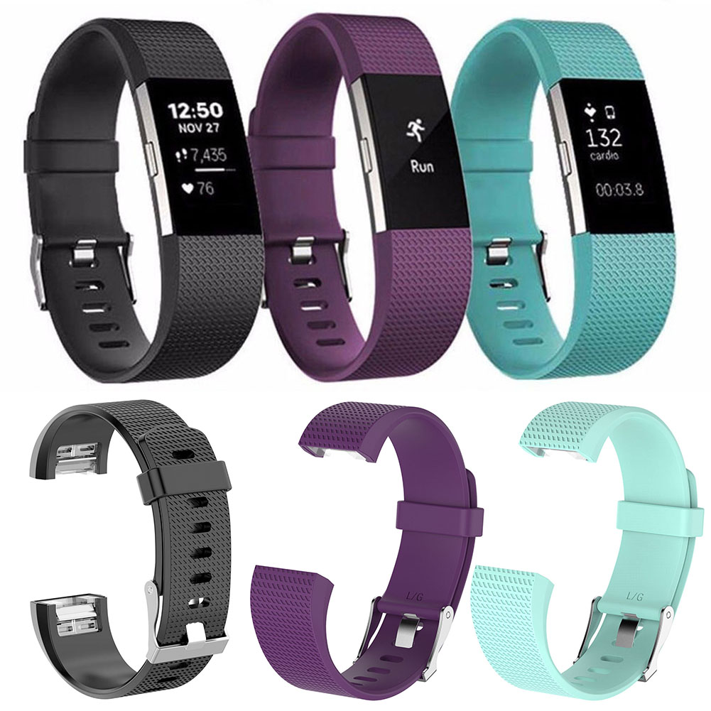 New 13 Colors Silicone Watch Strap Rubber Belt For Fitbit Charge 2 Replacement Digital Watch Buckle Clock Belt fitbit watch