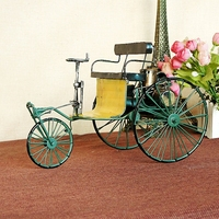 Metal Vintage Tricycle Webworm Model Home Decoration Classic Art