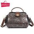 BVLRIGA embossing pequeno crossbody saco de couro Genuíno Do Vintage saco do mensageiro do ombro bolsas de luxo mulheres sacos de designer de moda