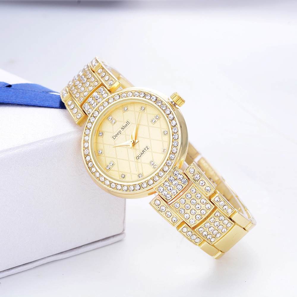 Women Watches Metal Bracelet Quartz Bracelet Gold Bracelet Crystal Diamond Stainless Steel Analog Quartz Wristwatch relogio 2018 l 10 women s stylish petals style bracelet quartz analog wristwatch golden white 1 x lr626