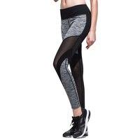 2018 neue Frauen Lauf GYM Allzweck Stil Leggings Hosen Manschette Design Atmungsaktives Mesh-Design Breite Taille Stil 0392