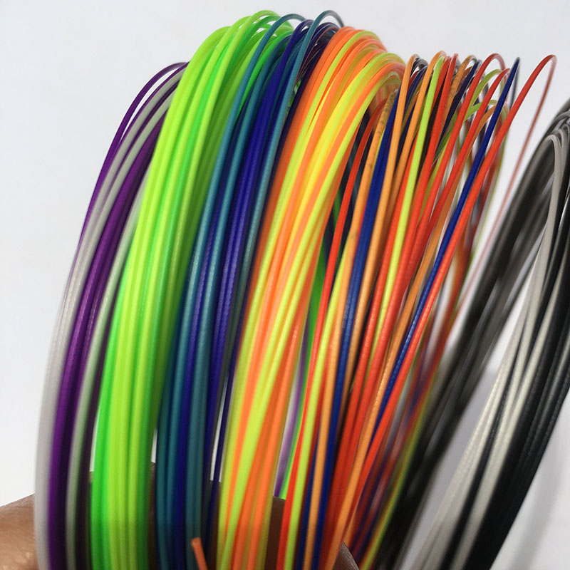 1 Pc Retail Rainbow 10m 0.7mm Badminton Strings Tension 28lbs 6 Colors