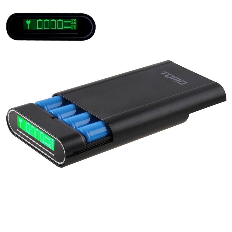 DIY Caja de Cáscara Banco de Potencia Cargador 4x18650 Baterías con pantalla lcd