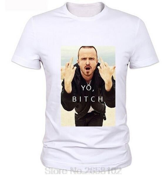332d95afce5a Men Cool Design Jesse Pinkman T Shirt Breaking Bad Shirts Walter White  Cotton Heisenberg T-shirts Tees Tops