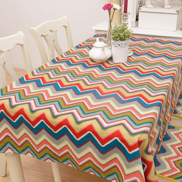 Mediterranean Ethnic Style Cotton Tablen Cloth Wave Line Geometric  Tablecloth Party Wedding Table Cover Toalha De Mesa ZB 48 In Tablecloths  From Home ...
