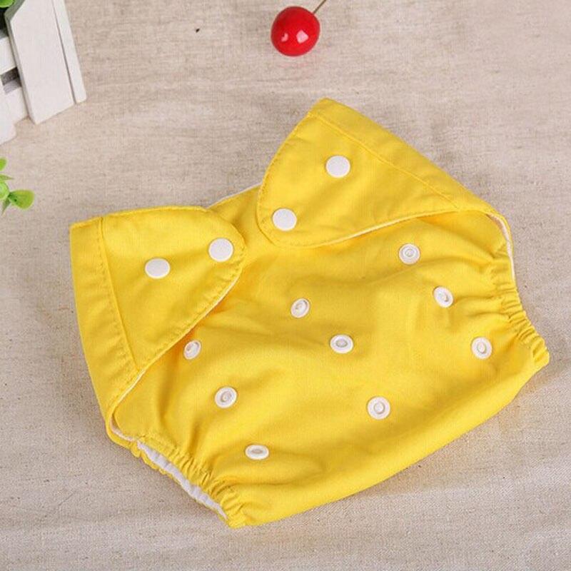 1 шт., регулируемые многоразовые тканевые подгузники для маленьких мальчиков и девочек, мягкие чехлы для младенцев, моющиеся подгузники - Цвет: Цвет: желтый