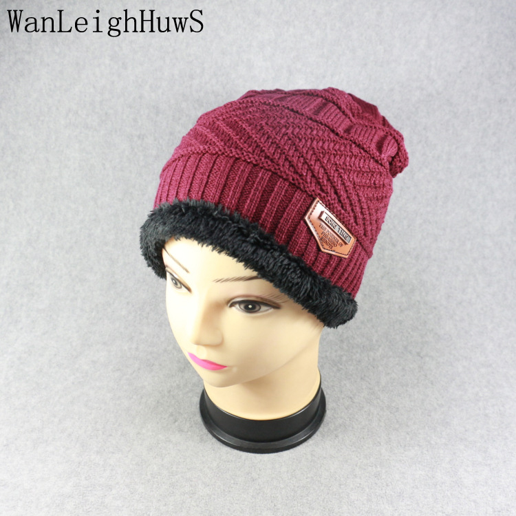 2017 Brand Beanies Knit Men's Winter Hat Caps Skullies Bonnet Winter Hats For Women Men Beanie Fur Warm Baggy Wool Knitted Hats 2017 winter women beanie skullies men hiphop hats knitted hat baggy crochet cap bonnets femme en laine homme gorros de lana