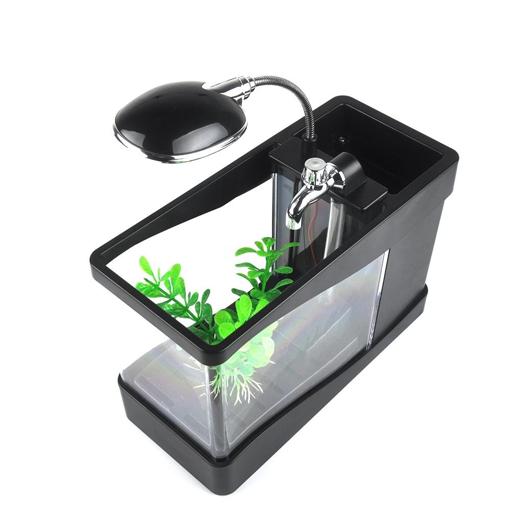 Desk aquarium fish tank - Aliexpress Com Buy New Arrival Usb Fish Tank Aquarium With Led Light Desktop Fish Tank Aquarium For Home Decoration Et150 From Reliable Aquarium