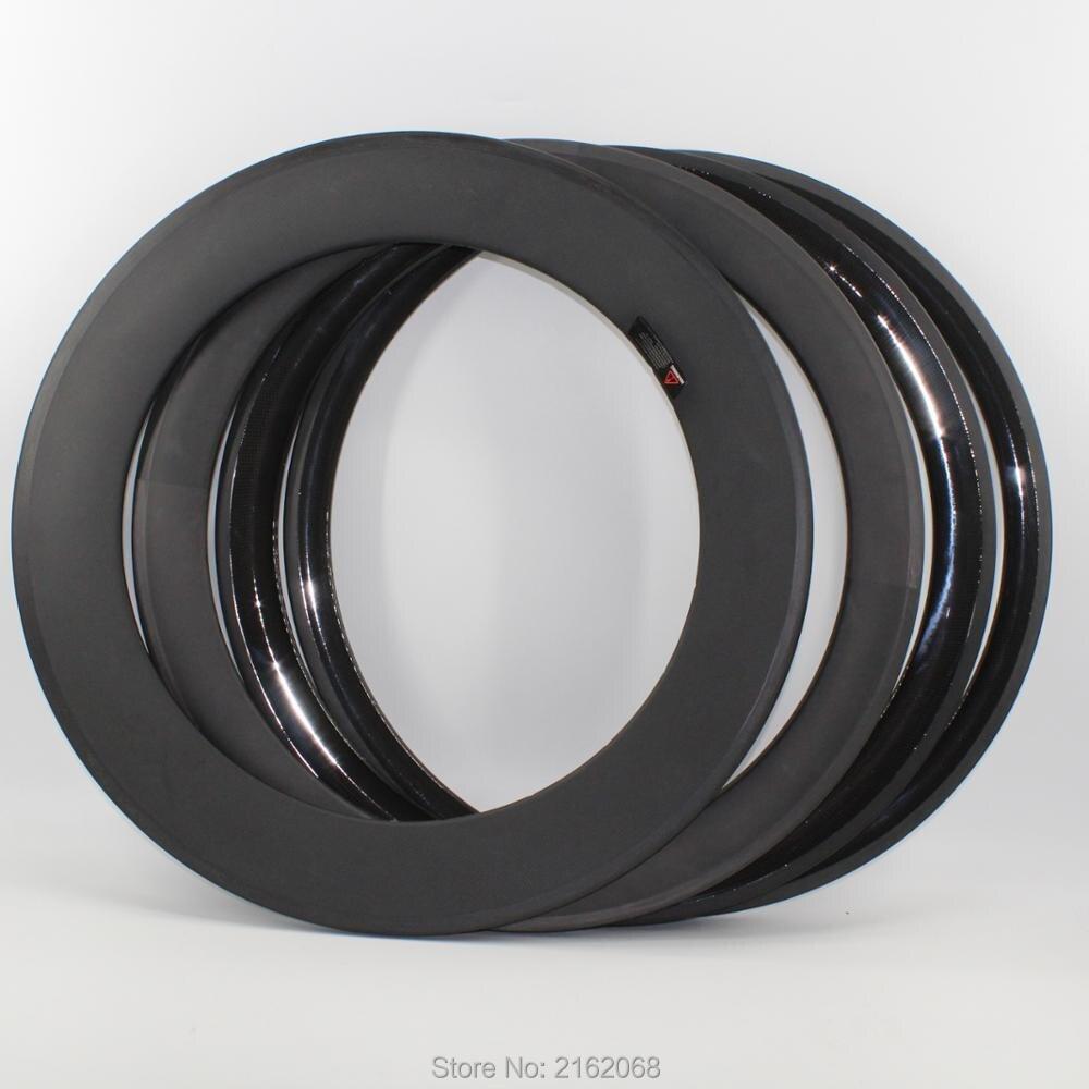 Tout nouveau 700C 38 50 60 88mm pneu jante vélo de route mat 3K UD 12K T800 pleine fibre de carbone roues de vélo jantes 23 25mm largeur