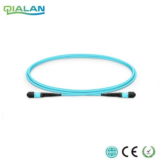 15m 12 cores MPO Fiber Patch Cable OM3 UPC jumper Female to Female Patch Cord multimode Trunk Cable,Type A Type B Type C