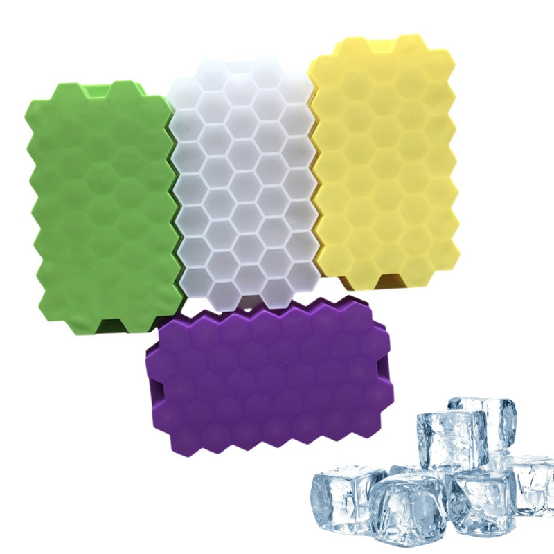 37 Grids Honeycomb Mini Ice Maker Cube Eco-Friendly Cavity Silicone Tray Mold Whosale&Dropship