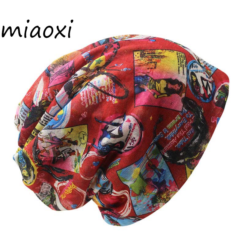 miaoxi New Style Female Knit Fashion Women Hat Polyester Autumn Scarf Two Used Lady Caps Skullies For Girl's Bonnet Warm Hats female caps for autumn