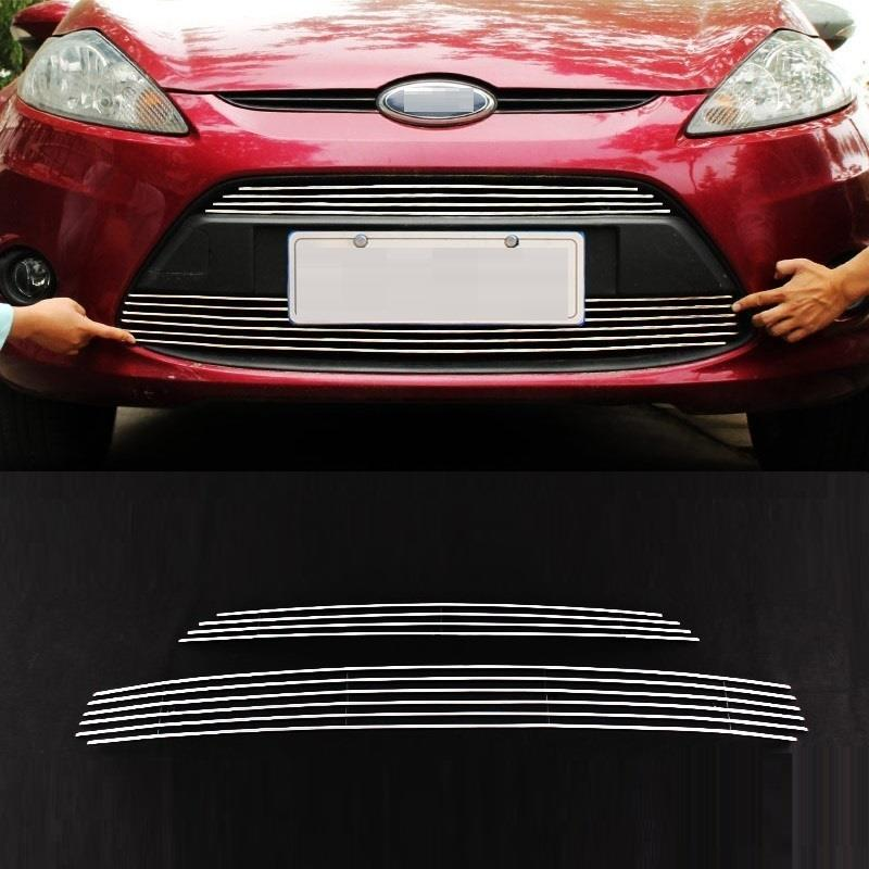 Grille automobile decorative car styling decoration modification accessories protecter accessory 09 10 11 12 FOR Ford Fiesta