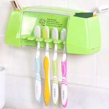 Wholesale multifunctional toothbrush holder storage box bathroom accessories suction hooks tooth brush holder