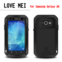 New Luxury Dirtproof Shockproof Waterproof 3 Proofs Metal Aluminum Case Cover With Gorilla Glass For Sumsang