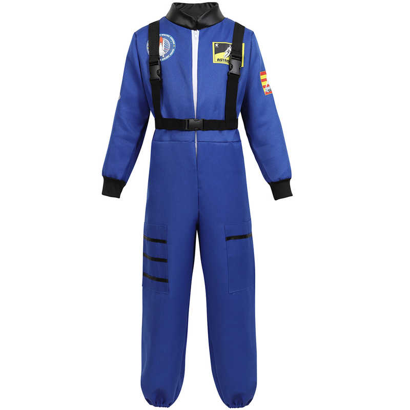 Astronaut Costume for Kids Jumpsuit Role Play Boys Girls Teens Toddlers Children's Astronaut Space Suit Cosplay Halloween White