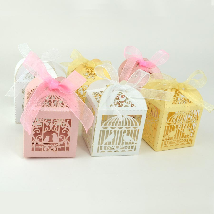 Elegant favor boxes ,paper candy gift bags for wedding party guests ...