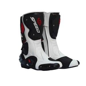 Image 2 - Мужские мотоциклетные ботинки, скоростная обувь для мотокросса, байкерские ботинки, мужские спортивные сапоги для езды на велосипеде по бездорожью