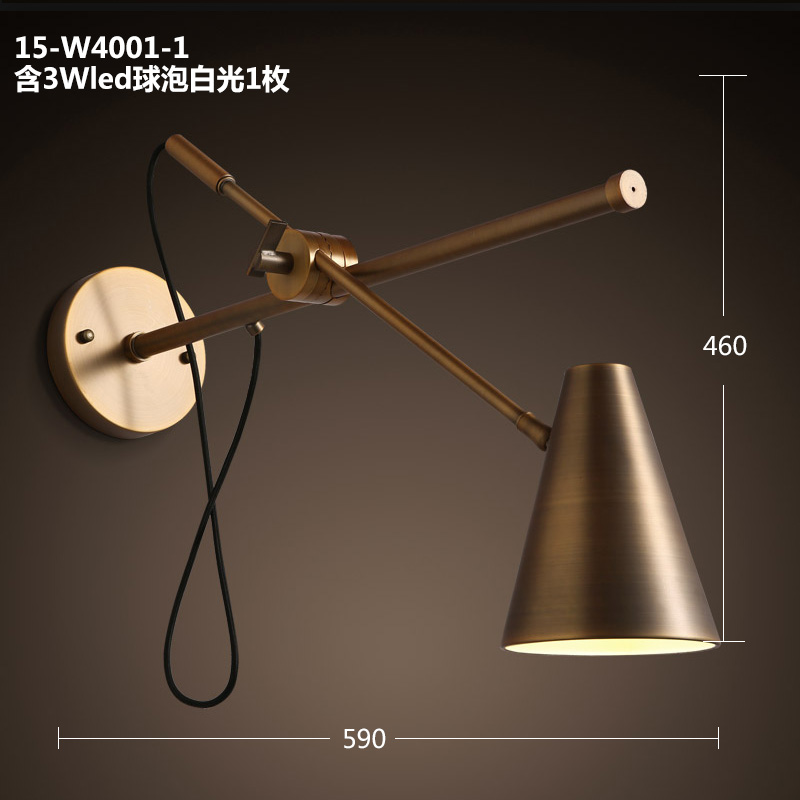 American vintage Iron loft industrial wall lamp indoor lighting bedside lamps wall lights for home 110V/220V E27 Edison Bulb loft american vintage wall lamps industrial indoor lighting bedside lamps wall lights for home decoration 220v 240v e27 bulb