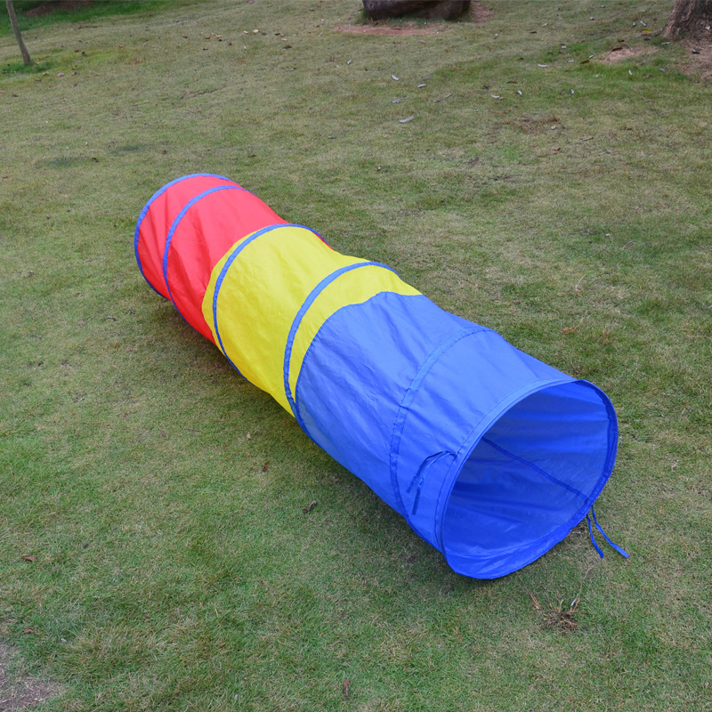 Kids Tunnel Portable Play Tent Foldable Toy Tents For Children Hide And Seek Games Colorful Indoor Outdoor Playing Ball Toys