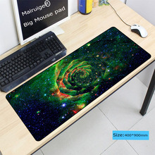 Mairuige Beautiful Blue Rose Flower Large Gaming Mouse Pad Stitched Edge Rubber Mousepad As Gifts For CSGO DOTA LOL Gamer