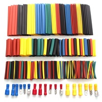 328pcs Crimp Terminal Connectors With New Box Case Heat Shrink Tube Tubing Cable Sleeve Sleeving Kits