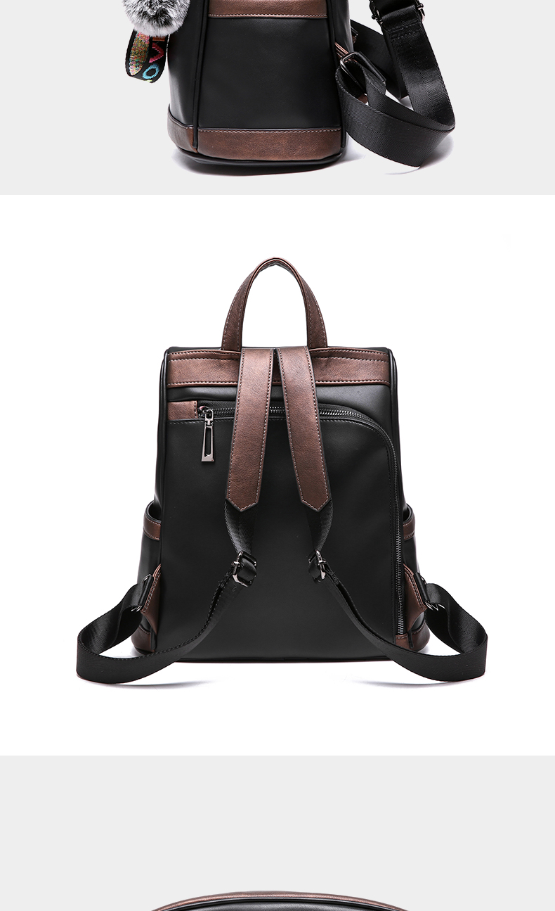 2018 New High-end Fashion Backpack Trend Simple Personality Fashion Campus Bag Large Capacity Bag Soft Leather Travel Backpack 53 Online shopping Bangladesh