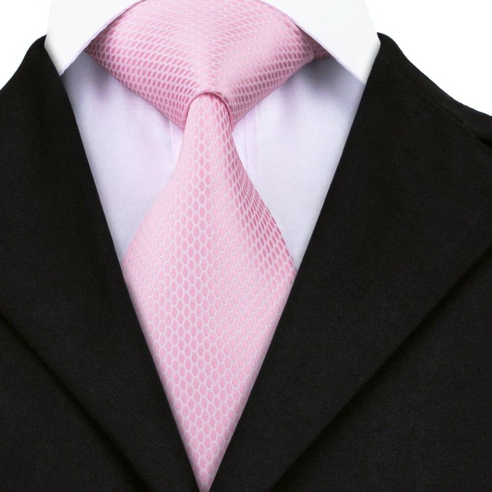 A-1452 Marke Krawatte 2017 Neue Design Mens Ties Geomatric Seidenkrawatten Für Männer Hochzeit Business Rosa Cravate Reich Und PräChtig