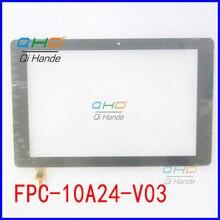 """De alta Calidad Negro Nuevo Para 10.1 """"FPC-10A24-V03 ZJX Pantalla Táctil Digitalizador Sensor de Piezas de Recambio Envío Gratis"""